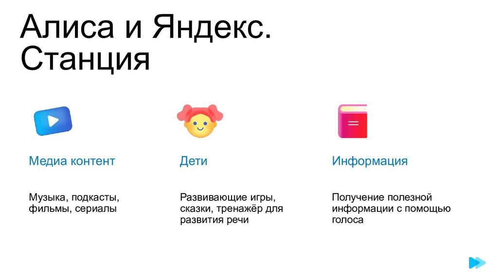 Алиса и Яндекс. Станция Информация Получение по...