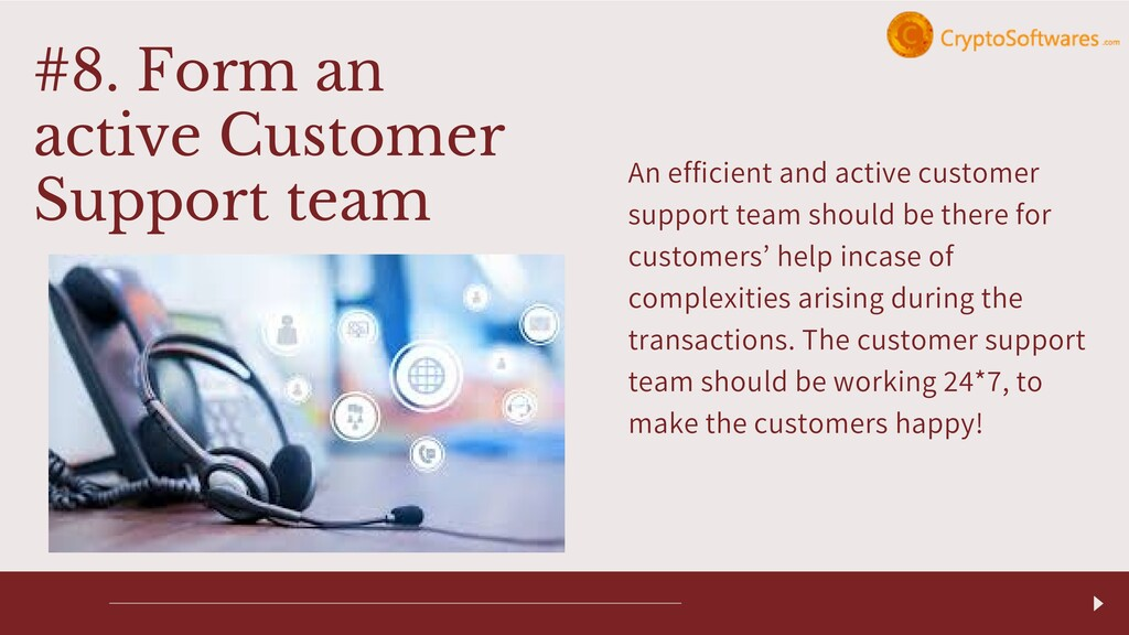 An efficient and active customer support team s...