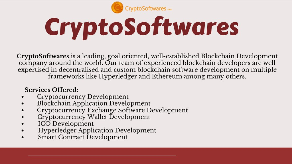 CryptoSoftwares Cryptocurrency Development Bloc...