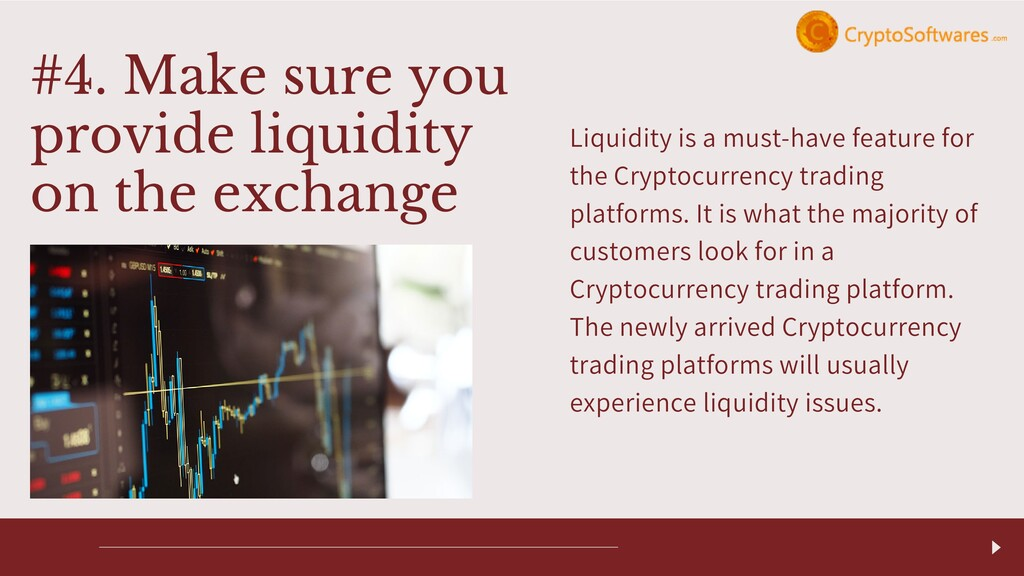 Liquidity is a must-have feature for the Crypto...