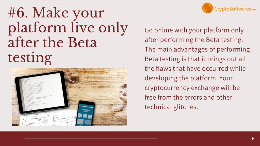 Go online with your platform only after perform...