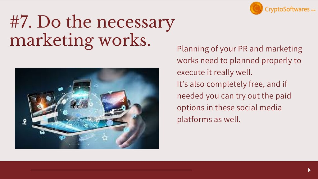 Planning of your PR and marketing works need to...