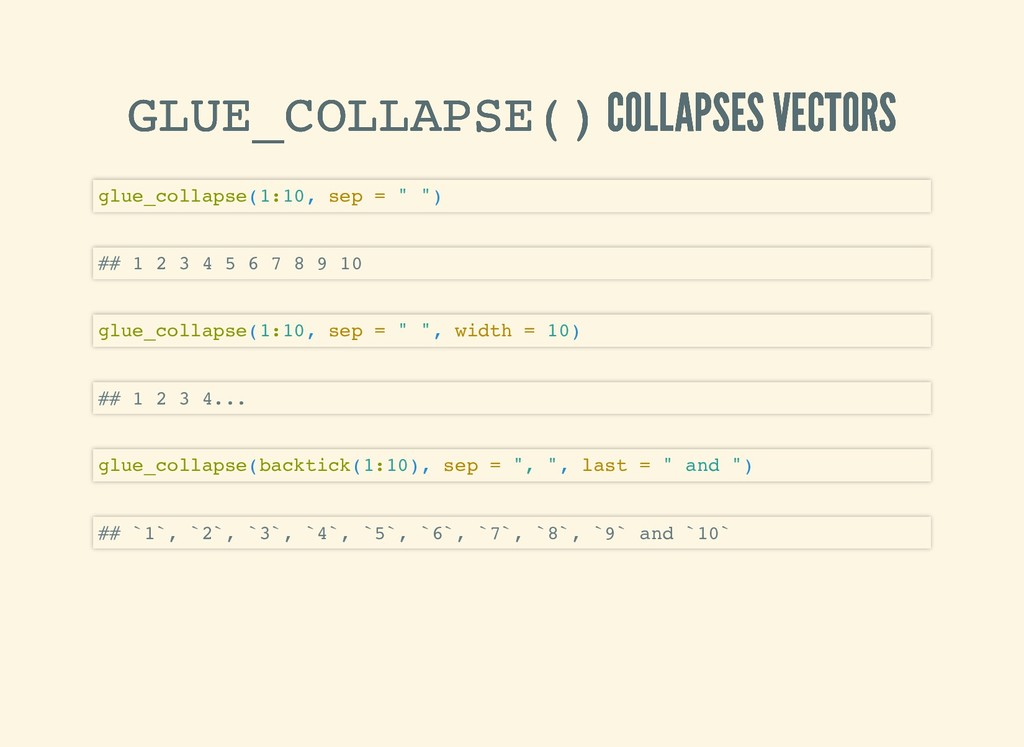 GLUE_COLLAPSE() GLUE_COLLAPSE() COLLAPSES VECTO...