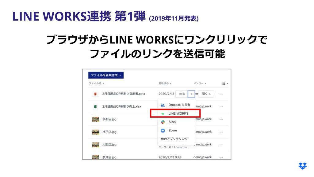 LINE WORKS連携 第1弾 (2019年11⽉発表) ブラウザからLINE WORKSに...