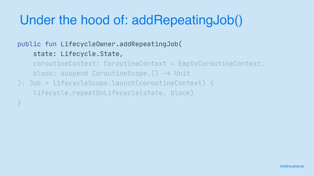 Under the hood of: addRepeatingJob() @ddinoraht...