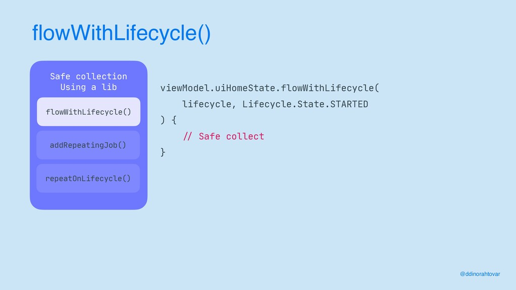 flowWithLifecycle() @ddinorahtovar viewModel.ui...
