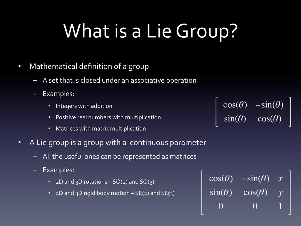 What is a Lie Group?  • Mathema...