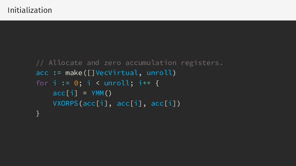 Initialization // Allocate and zero accumulatio...