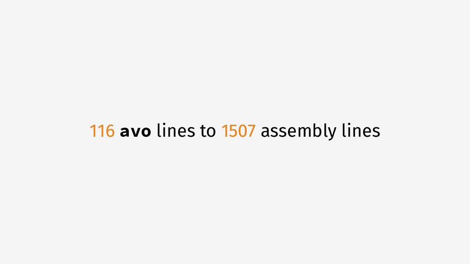 116 avo lines to 1507 assembly lines