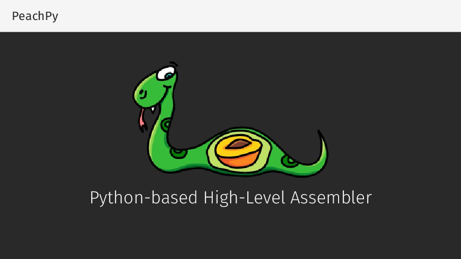 PeachPy Python-based High-Level Assembler