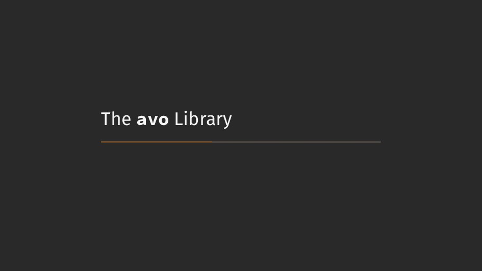 The avo Library