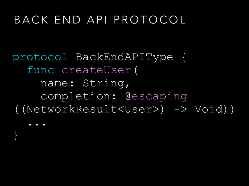 B A C K E N D A P I P R O T O C O L protocol Ba...