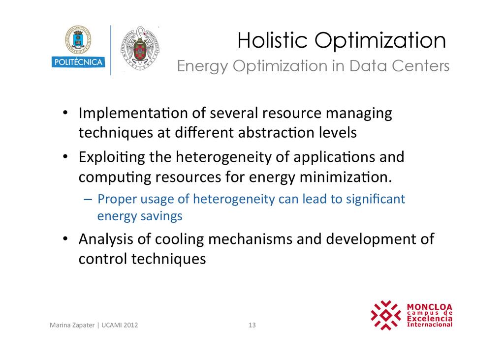 Holistic Optimization • Implementa?on of ...