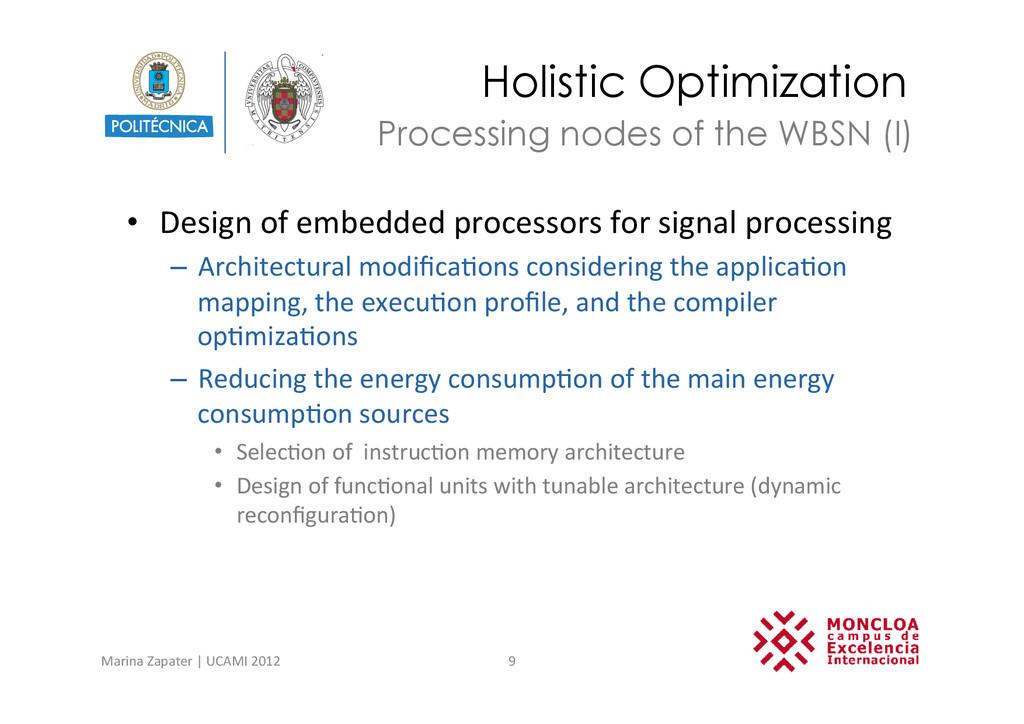 Holistic Optimization • Design of embedd...