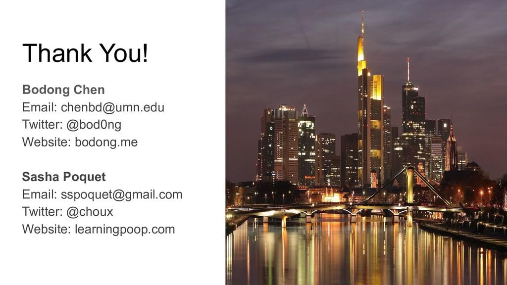 Thank You! Bodong Chen Email: chenbd@umn.edu Tw...