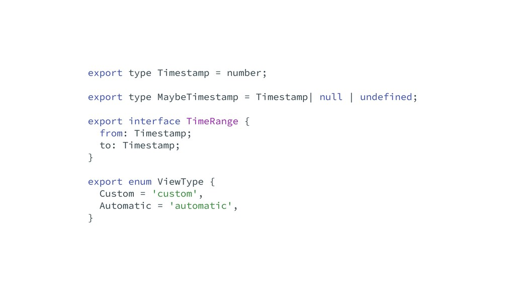 export type Timestamp = number;   export type M...