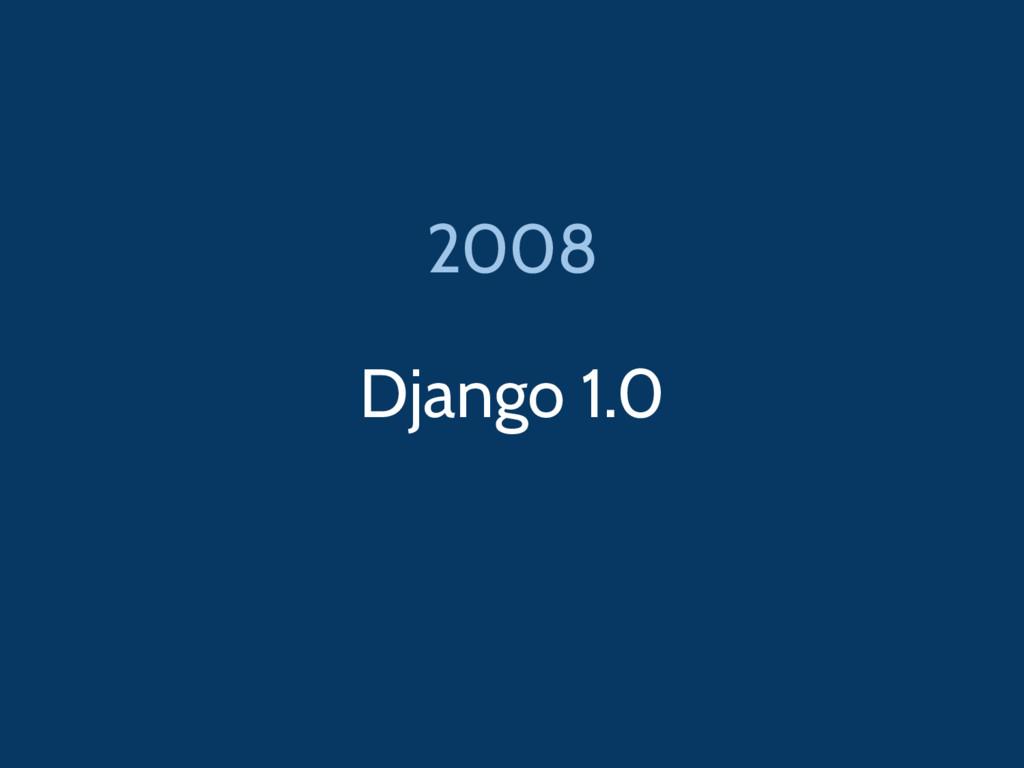Django 1.0 2008