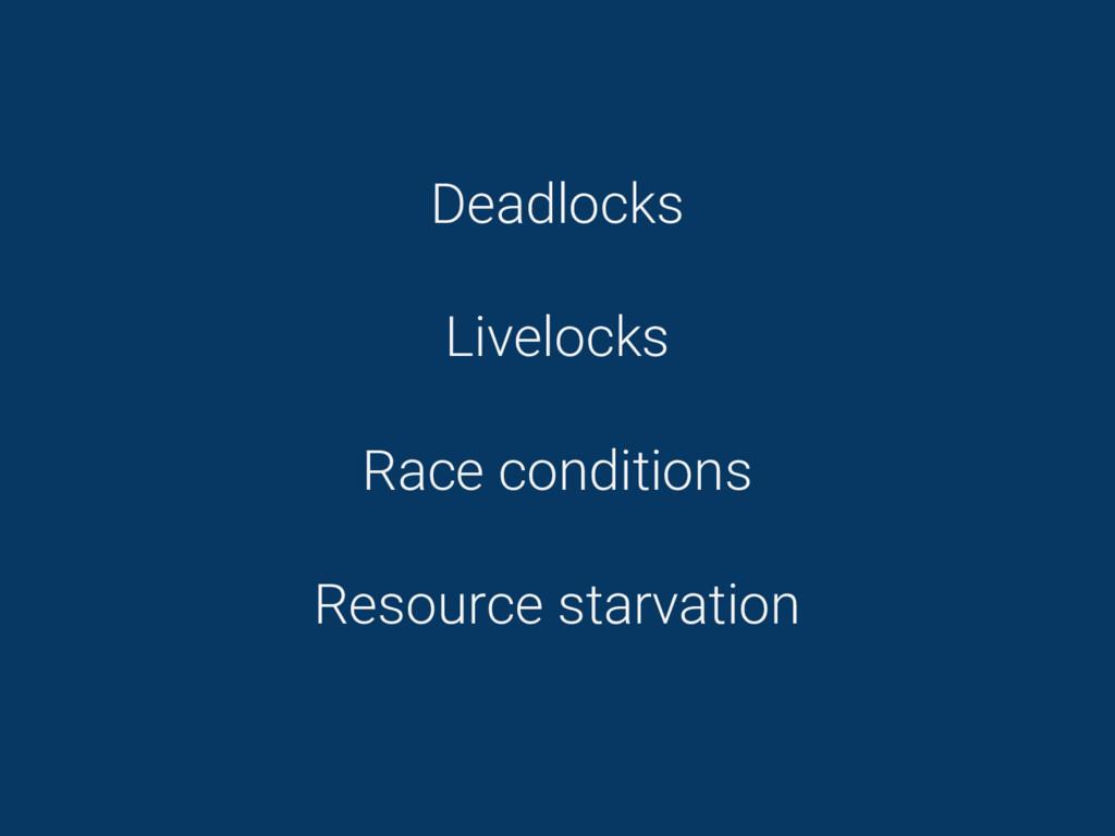Deadlocks Livelocks Race conditions Resource st...