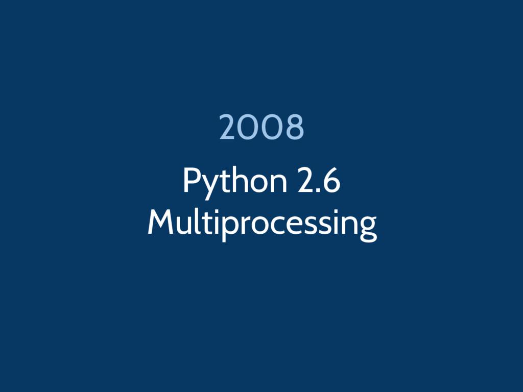 Python 2.6 Multiprocessing 2008