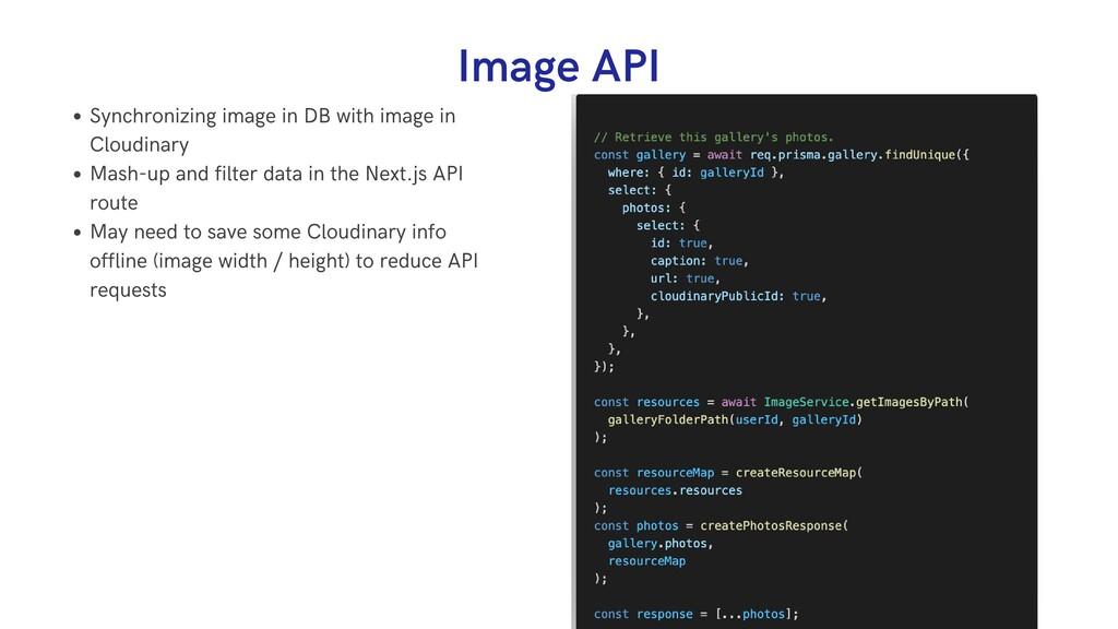 Image API Synchronizing image in DB with image ...