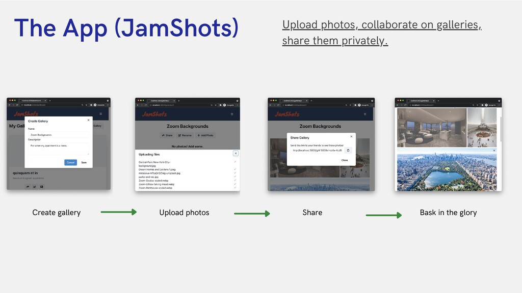 The App (JamShots) Upload photos, collaborate o...