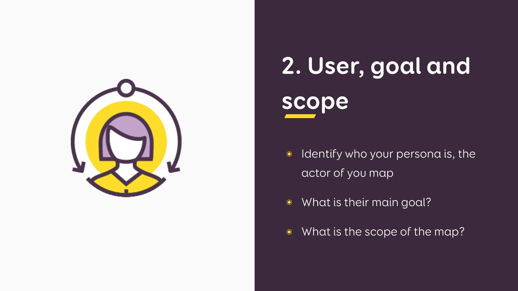 2. User, goal and scope ๏ Identify who your per...