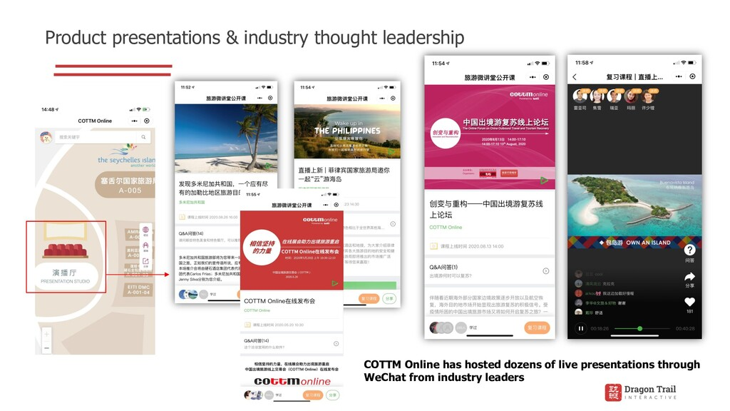 Product presentations & industry thought leader...