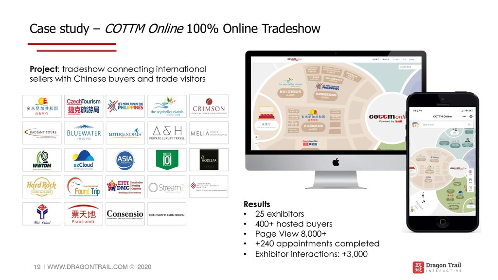Case study – COTTM Online 100% Online Tradeshow...