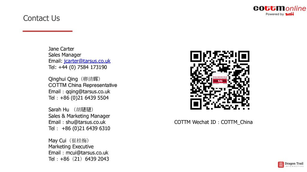 Contact Us Jane Carter Sales Manager Email: jca...