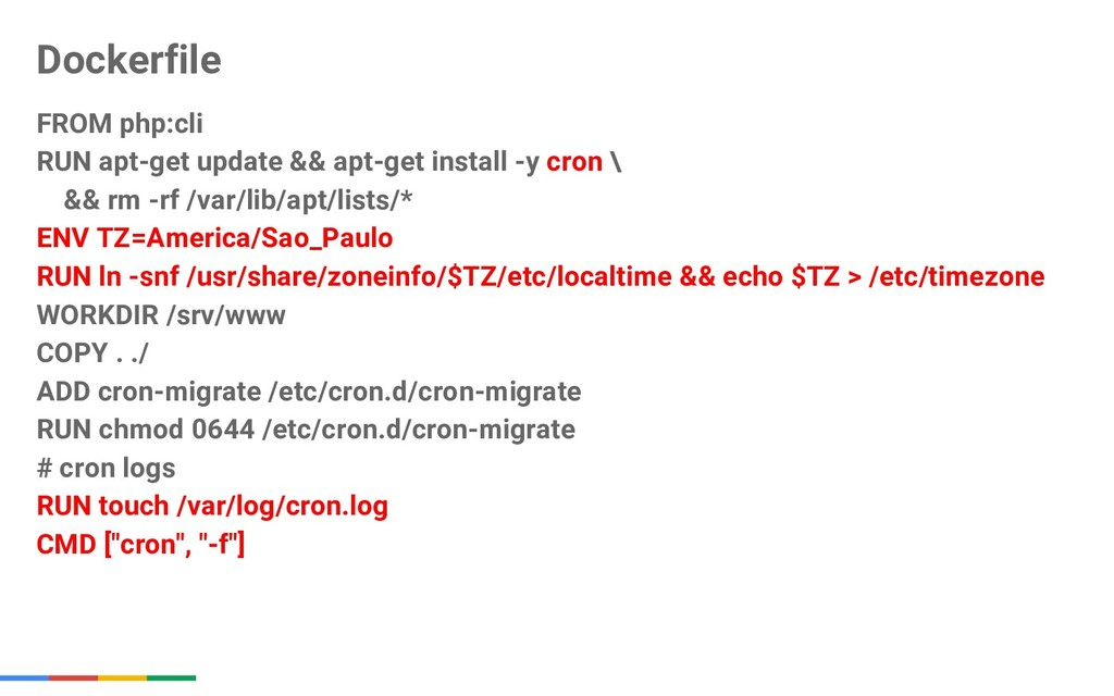 Dockerfile FROM php:cli RUN apt-get update && a...