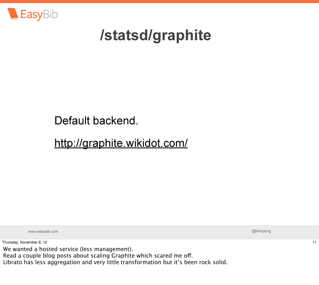 www.easybib.com @klimpong Default backend. http...