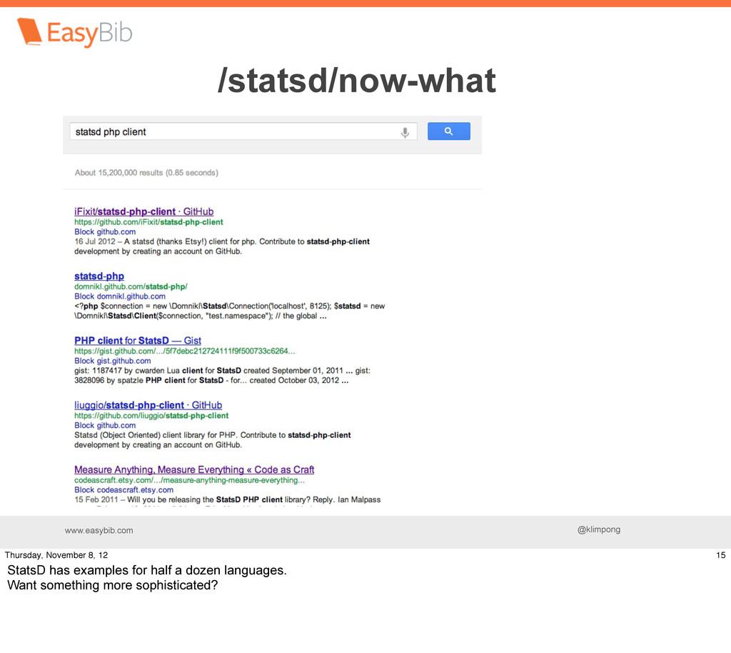 www.easybib.com @klimpong Find a PHP client lib...