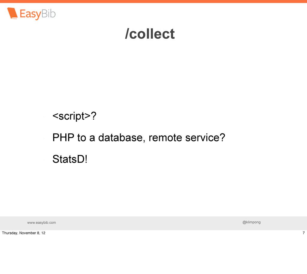 www.easybib.com @klimpong <script>? PHP to a da...