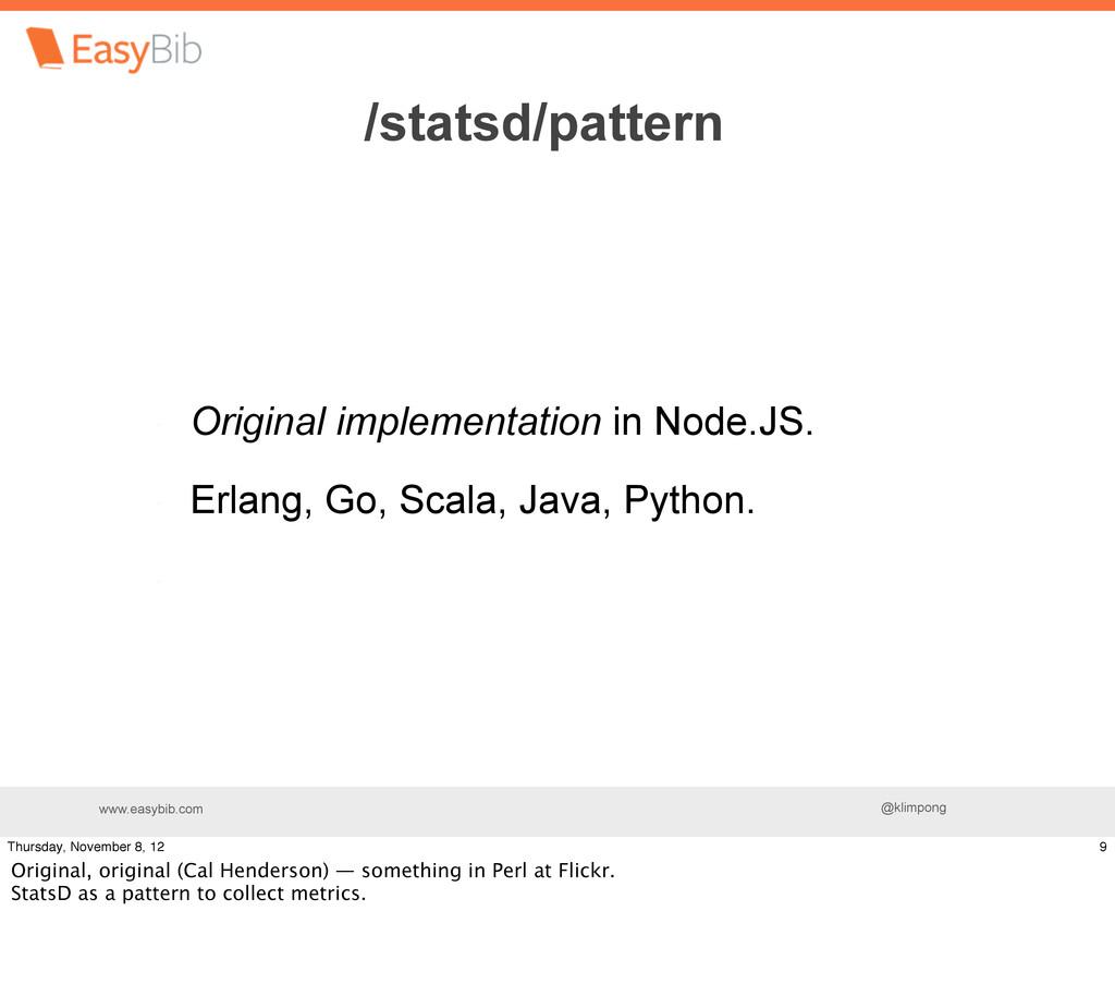 www.easybib.com @klimpong Original implementati...