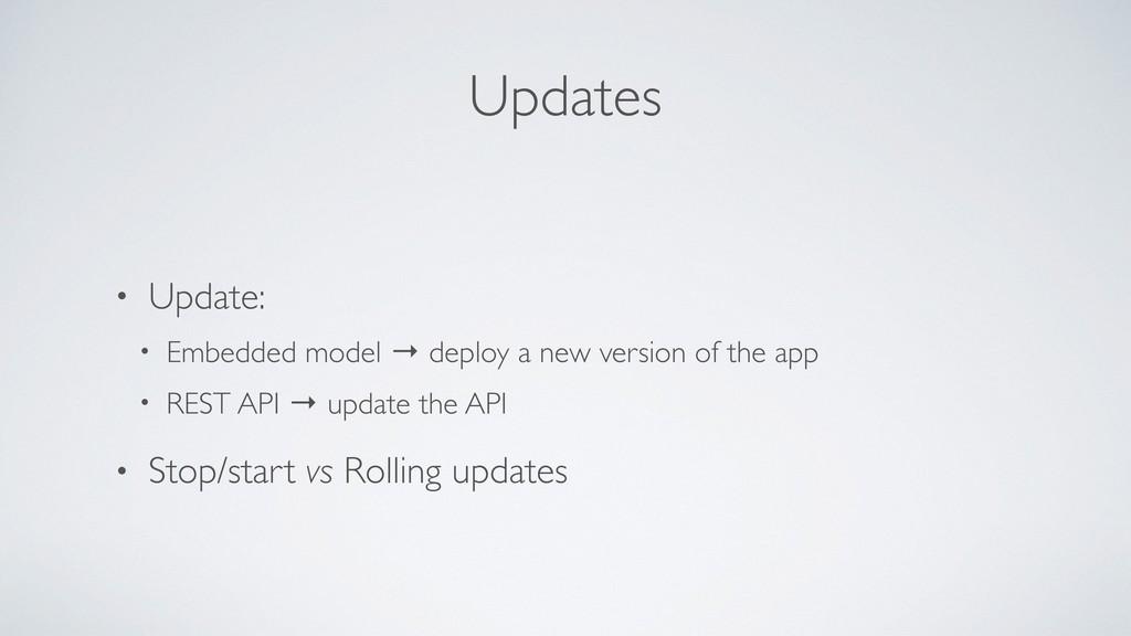 Updates • Update: • Embedded model → deploy a n...