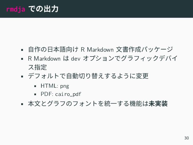 rmdja での出力 • 自作の日本語向け R Markdown 文書作成パッケージ • R ...