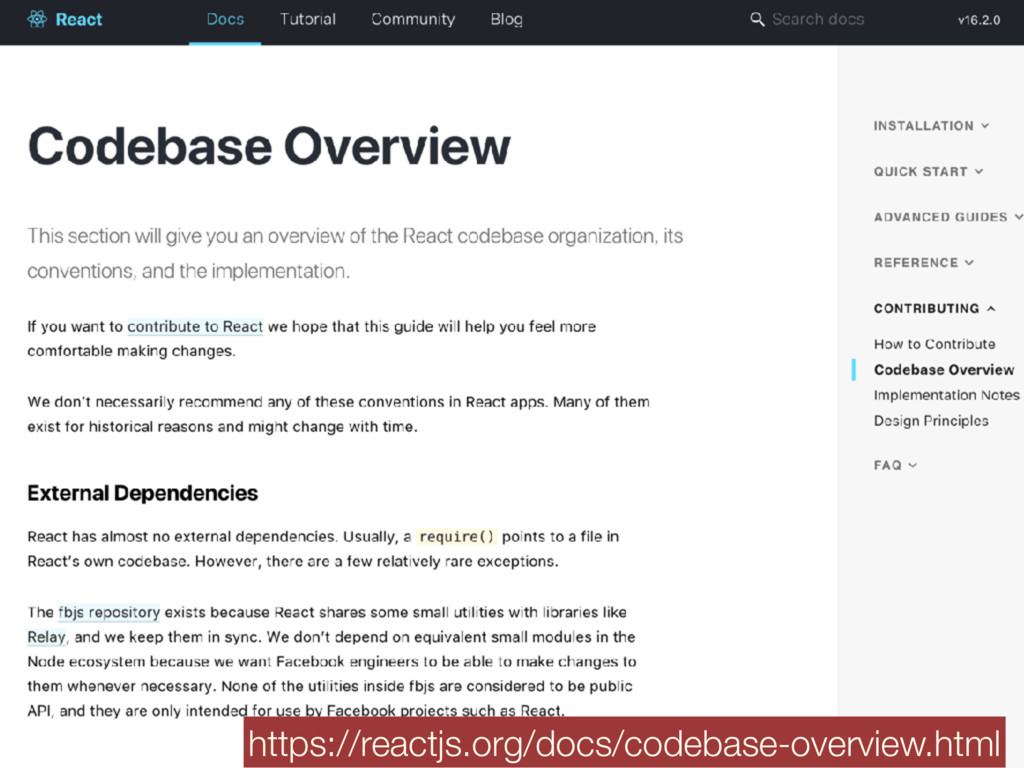 https://reactjs.org/docs/codebase-overview.html