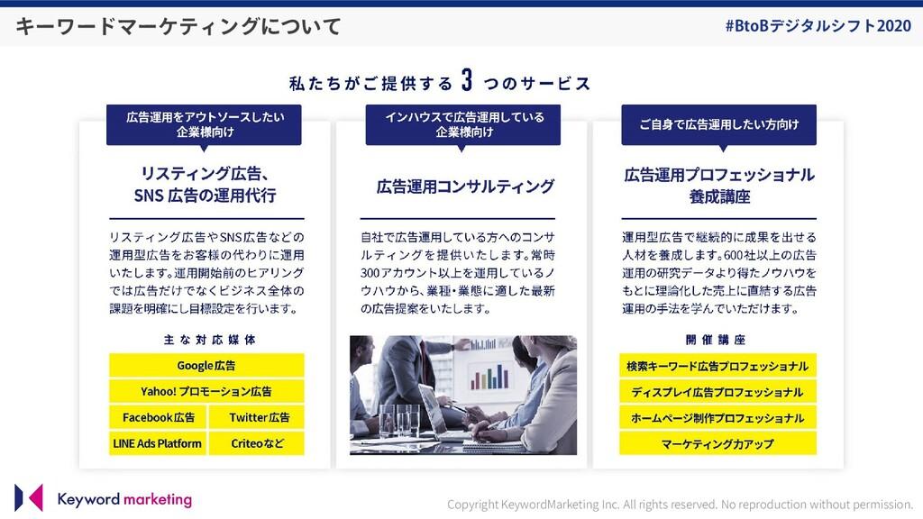 #BtoBデジタルシフト2020 キーワードマーケティングについて Copyright Key...