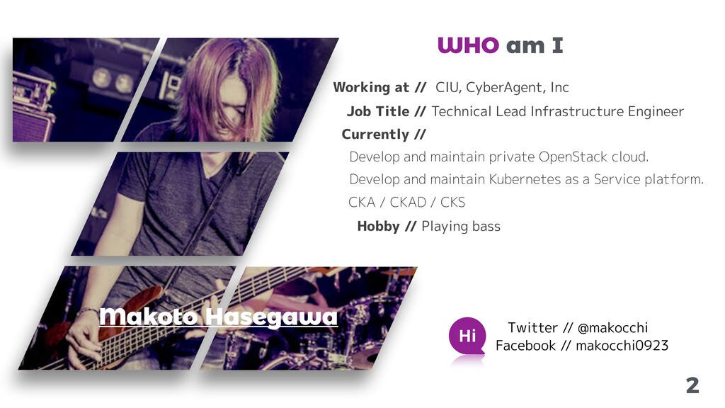 2 Makoto Hasegawa Working at // CIU, CyberAgent...