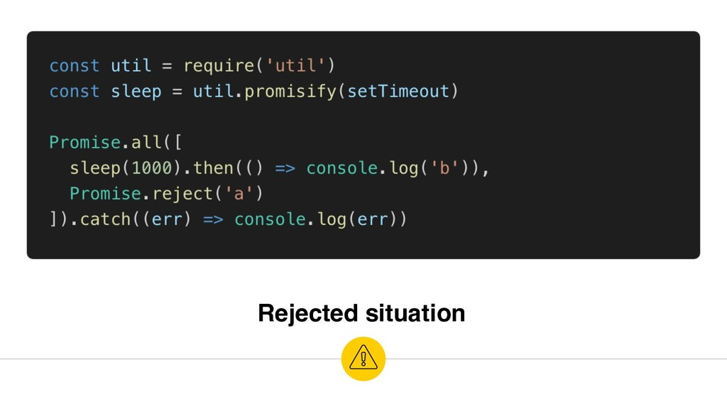 Rejected situation