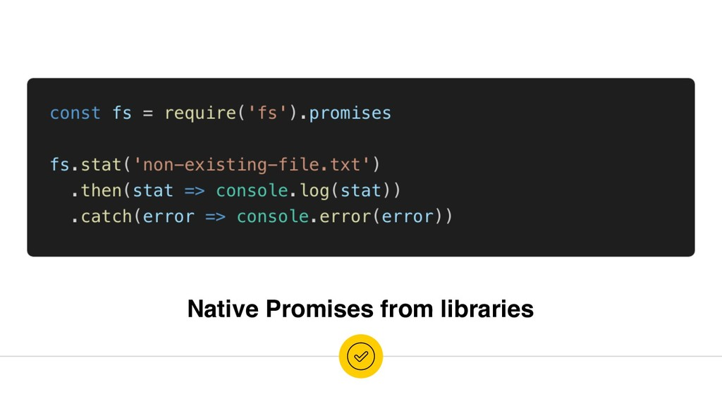 Native Promises from libraries