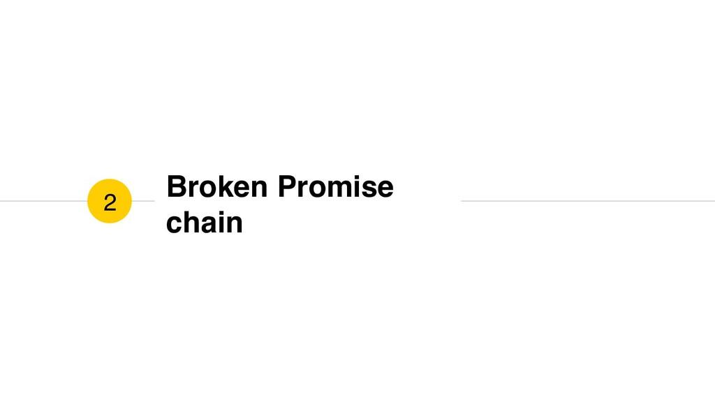 Broken Promise chain 2
