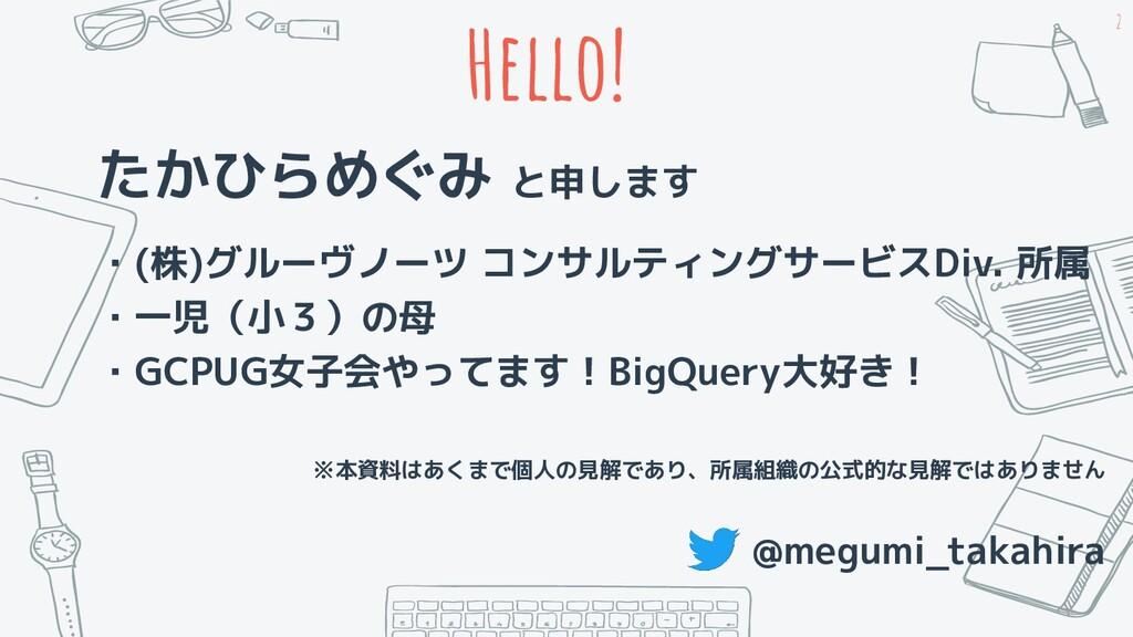 Hello! たかひらめぐみ と申します ・(株)グルーヴノーツ コンサルティングサービスDi...