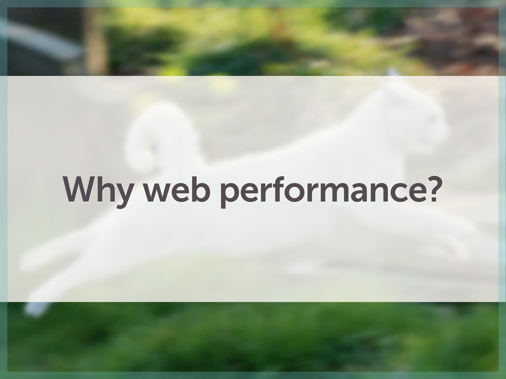 Why web performance?