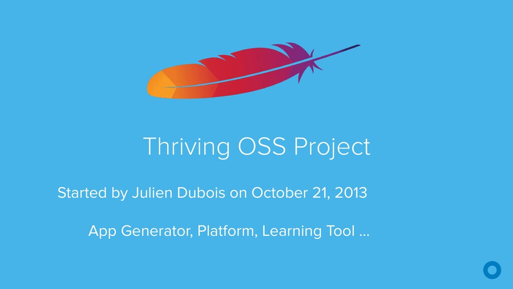 Thriving OSS Project Started by Julien Dubois o...