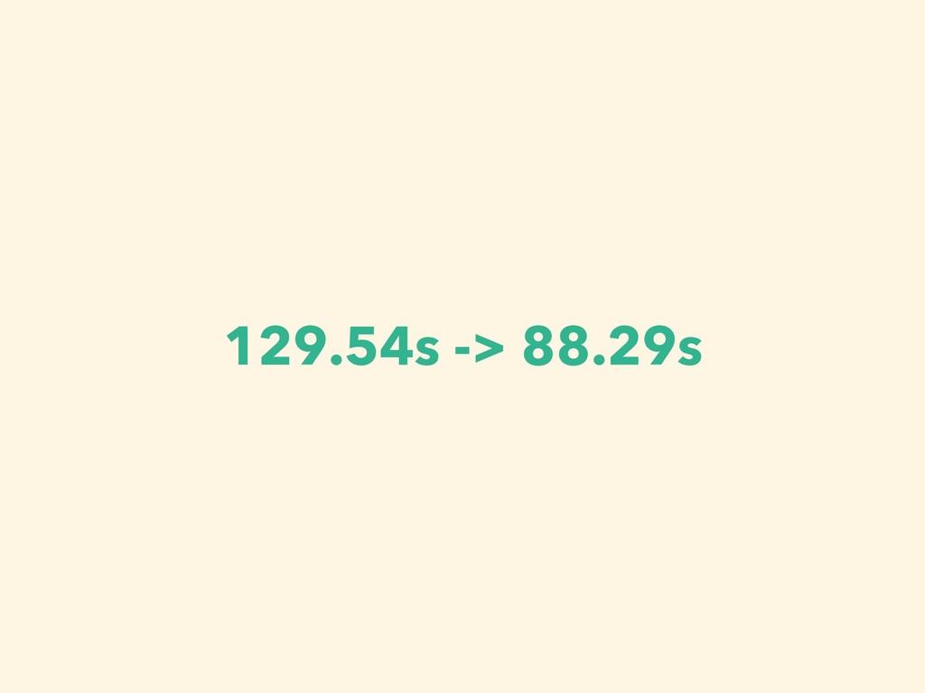 129.54s -> 88.29s