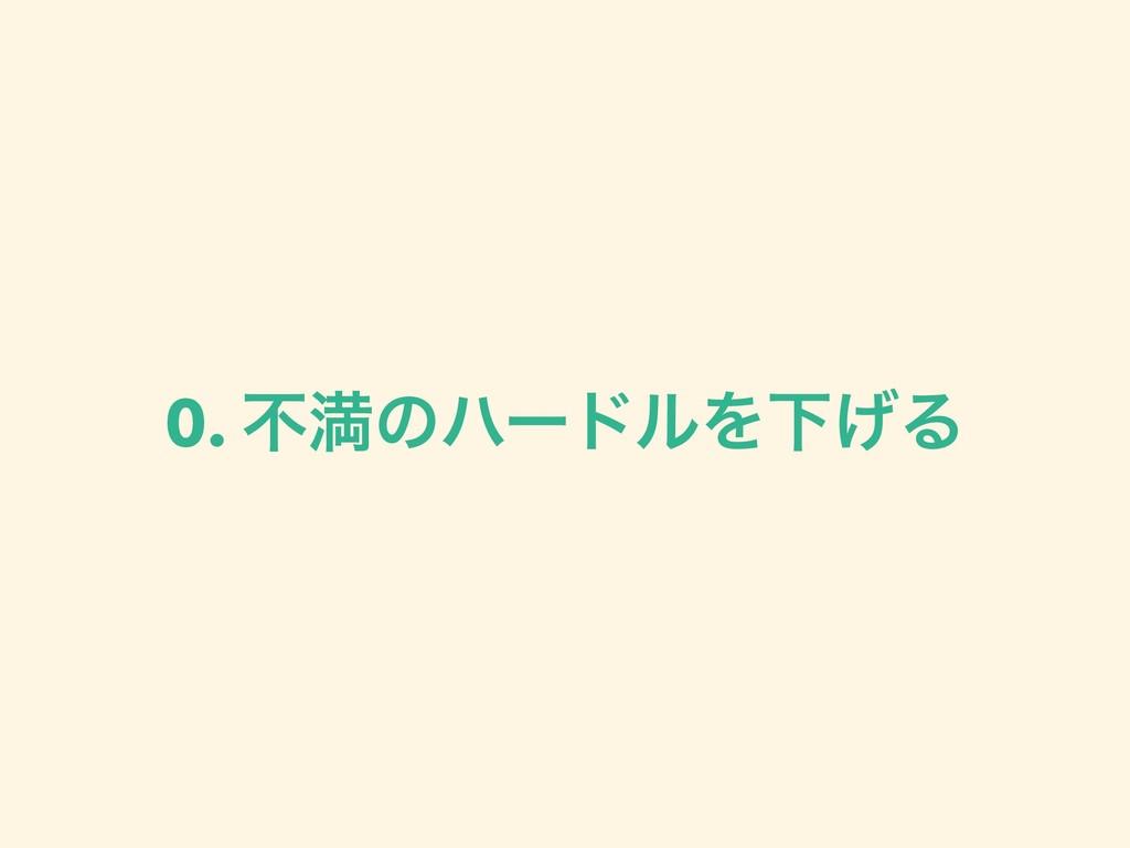 0. ෆຬͷϋʔυϧΛԼ͛Δ