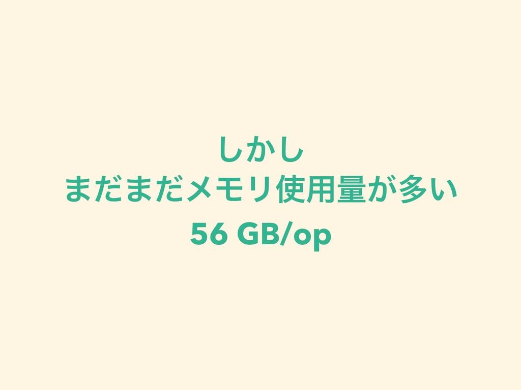 ͔͠͠ ·ͩ·ͩϝϞϦ༻ྔ͕ଟ͍ 56 GB/op