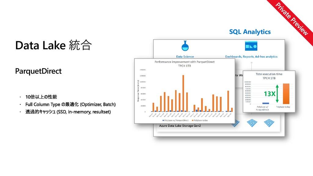 13X SQL Analytics Data Lake 統合 ParquetDirect
