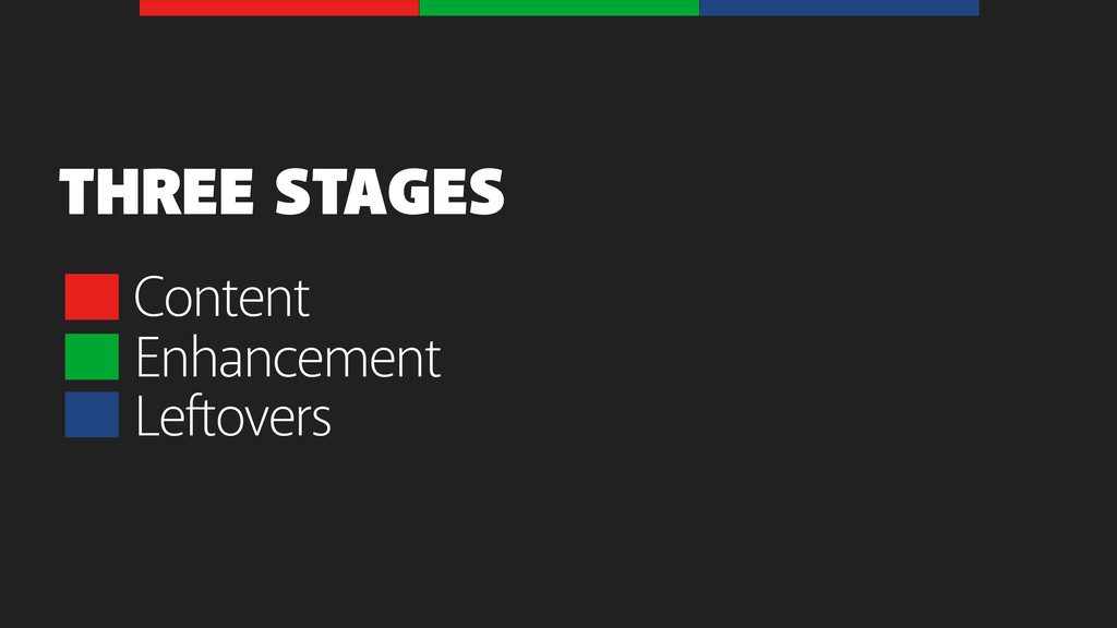 Content THREE STAGES Enhancement Leftovers